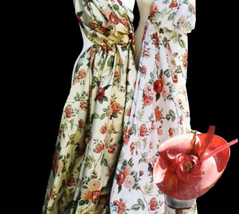 Floral Silk Dress Mock Up
