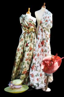 Floral Silk Dress Mock up by Jenny Edwards-Moss in Stow-on-the-Wold